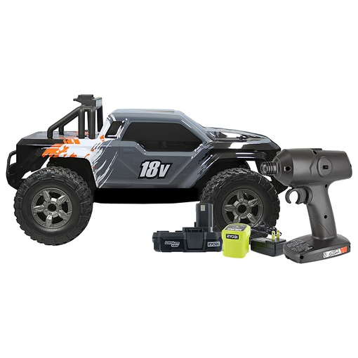 Uproar P3800 18V Lithium Ion One+ Compatible RC Truck with 2-Wheel Drive