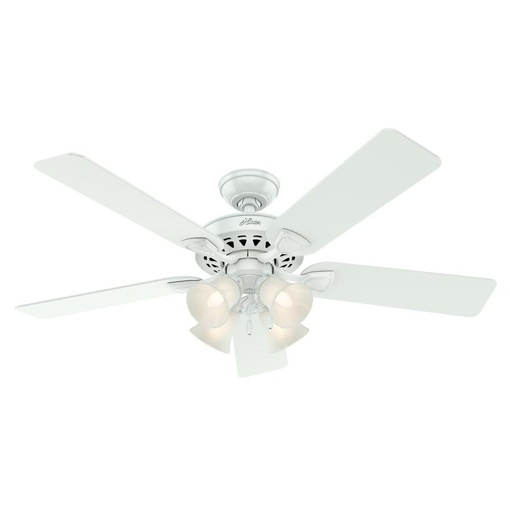 Hunter 53157 Westminster 5 Minute Fan 52-in White Indoor