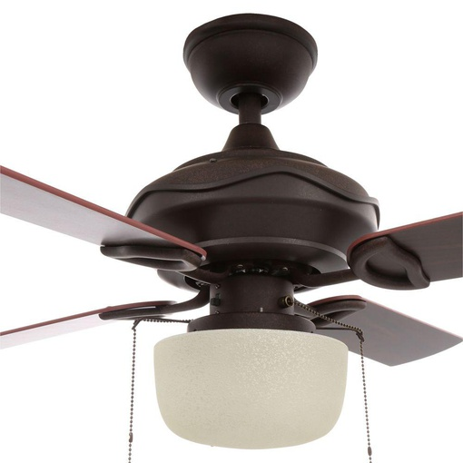 Hampton Bay 61876 Courtney 42 In  Indoor Oil Rubbed Bronze Ceiling Fan With Light Kit